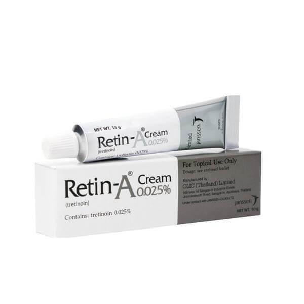 Cách trị mụn ẩn vĩnh viễn Retin-A 0,025% Cream