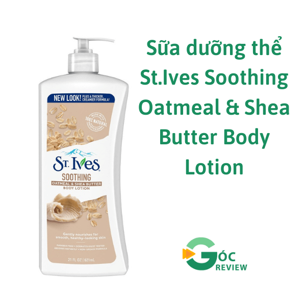 Sua-duong-the-St.Ives-Soothing-Oatmeal-Shea-Butter-Body-Lotion