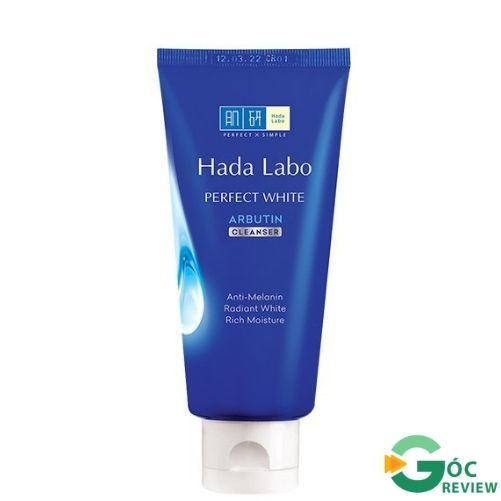 Sua-rua-mat-Hada-Labo-tri-mun-Perfect-White-Arbutin-Cleanser-xanh